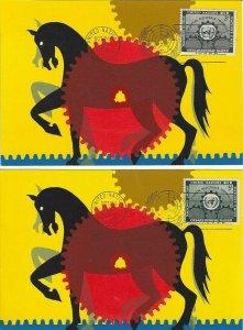UN #19/20 - TECHNICAL ASSISTANCE FDC - Colorart Maxicards