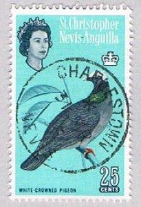 St Kitts Nevis & Anguilla 155 Used Pigeon 1 1963 (BP53407)