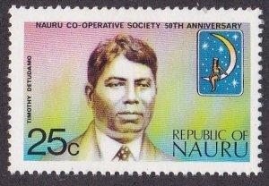 Nauru # 106, Timothy Detudamo, NH, 1/3 Cat.