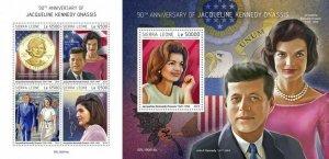 Z08 IMPERF SRL190614ab SIERRA LEONE 2019 Jacqueline Kennedy Onassis MNH