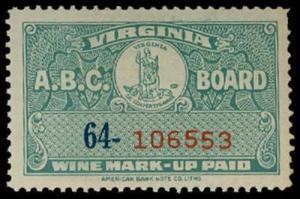 U.S. VIRGINIA ST. REVS W20  Mint (ID # 29841)