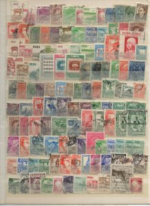 PERU 1940 - 1964 STAMP SELECTION SINGLES & SHORT SETS 325 STAMPS F