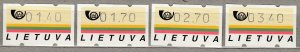 LITHUANIA 1995 Vending Machine Coil Stamps MNH(**) #HS23