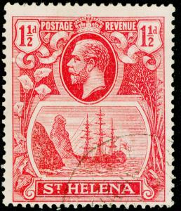 ST. HELENA SG99c, 1½d rose-red, VERY FINE USED, CDS. Cat £200. CLEFT ROCK.