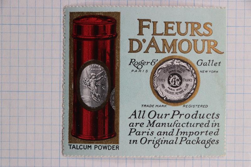 Fleurs D Amour Talcum Powder Perfume Roger Gallet Paris Ny