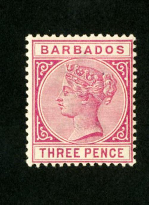 Barbados Stamps # 63A VF OG NH