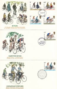 1978, Great Britain: Bicycling, Grp 5, FDC(S18791)