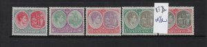 ST. KITTS-NEVIS SCOTT #82A-87A 1938-48 GEORGE VI-PERF 13X 11 1/2- MINT LH