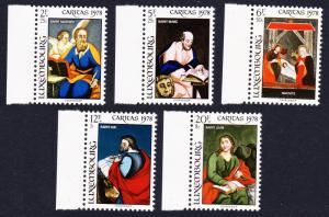 Luxembourg Caritas 1978 5v with margin SG#1013-1017 SC#B318-B322