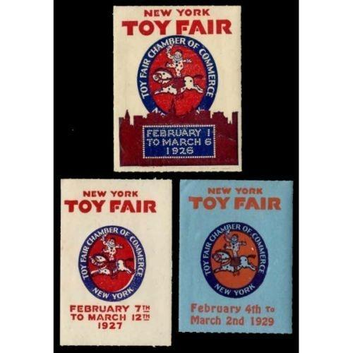 US - New York Toy Fair 1920s Poster Stamps