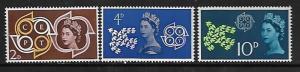 GREAT BRITAIN, 382-384, MNH, QUEEN ELIZABETH