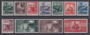 Trieste Sc 58/69 MNH. 1949-50 AMG-FTT ovpts on stamps of Italy, VF