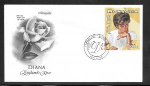 Just Fun Cover Mongolia #2288 FDC Offical Tributes to Princess Diana (my4055)