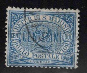 San Marino Scott 2 Used Blue 1894 stamp CV $19