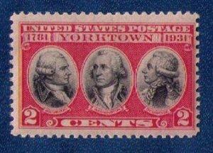 US Sc #703 2¢ DRK CARMINE ROSE AND BLACK MNH,Og F-VF