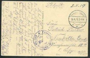 RUSSIA BELARUS 1917 German Feldpost card ex Brest-Litowsk..................66406