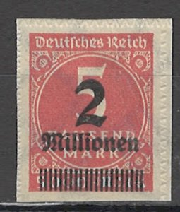 COLLECTION LOT OF #1861 GERMANY #278 MH 1923 PERFORATION UNCUT