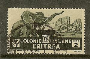 Eritrea, Scott #165, 2L African Elephant, Used