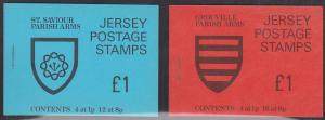 Jersey - 1970 2 £1 Arms Booklets VF