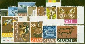 Zambia 1968 set of 12 SG129-140 V.F MNH