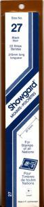SHOWGARD BLACK MOUNTS 215/27 (22) RETAIL PRICE $9.75