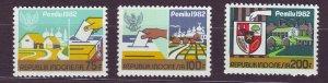 J22794 JLstamps 1982 indonesia set mnh #1171-3 designs