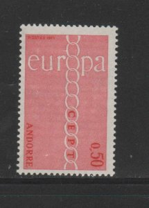 ANDORRA, FRENCH #205  1971   EUROPA  MINT VF NH  O.G