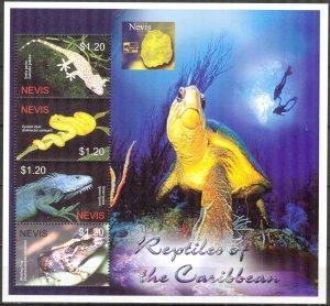 Nevis 2005 Reptiles Lizards Snakes Sheet MNH