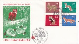 West Germany 1967 Child Welfare Animals FDC Unadressed VGC