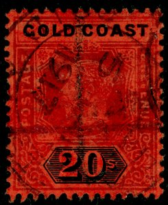 GOLD COAST SG84, 20s purple & black/red, USED. Cat £120.