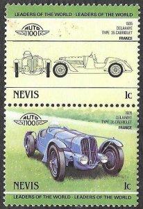 Nevis SC 286a-286b * Delahaye Cabriolet * MNH * 1985