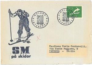 WINTER SPORTS: SKIING - FDC COVER - SWEDEN 1957