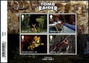 HERRICKSTAMP NEW ISSUES GREAT BRITAIN Sc.# 3936 Video Games S/S Tomb Raider