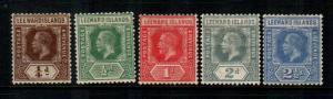 Leeward Islands #46-50  Mint  Scott  $20.40