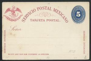 MEXICO Early 5c postcard unused............................................66239