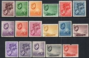 1938 Seychelles Sg 135/49 Kurz Set Mit 14 Eigenschaften Halterung