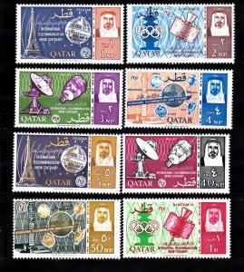 Qatar   61-68 MNH 1965 ITU Cent. CV $35.75