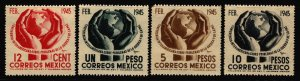 Mexico 1945 Inter-American Conf Stamp Short Set 4 Stamps Scott 792-5 MH
