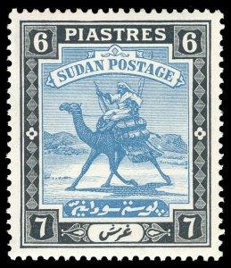 Sudan 1941 KGVI 6p greenish blue & black MLH. SG 45b. Sc 47.