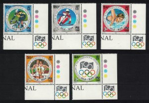 Isle of Man Centenary of International Olympic Committee 5v Corners SG#621-625