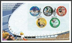 NEW ZEALAND 1996 Olympic Games souvenir sheet commem FDC..................60634A