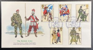 GB #1022-1026 Used VF/XF - First Day Cover - British Army Military 1983 [CVR206]