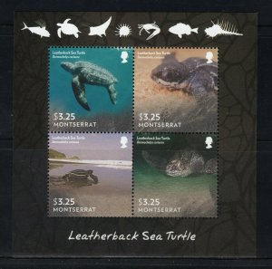 MONTSERRAT -  2015 Marine Life - Leatherback Sea Turtle M2741