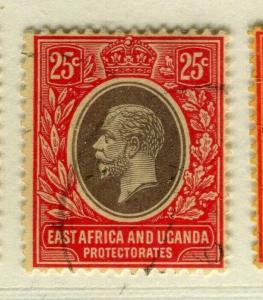 BRITISH EAST AFRICA; 1912 early GV issue fine used Shade of 25c.