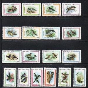 Barbuda Sc 431-48 1980 Birds stamp set mint NH