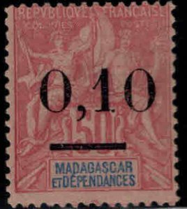 Madagascar Scott 60 MH* surcharged stamp