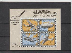 Norway  Scott#  753  CTO  S/S  (1979 NORWEX '80)