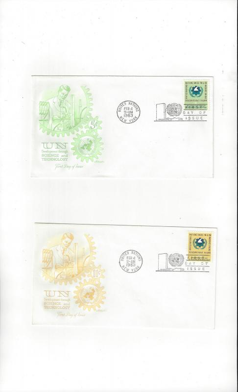 UN New York FDC 114-5 Science and Technology Artmaster Cachet