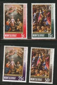 Montserrat Scott 208-211 MH* 1968 Christmas set