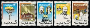 Norfolk Island Scott 347-351 Mint never hinged.